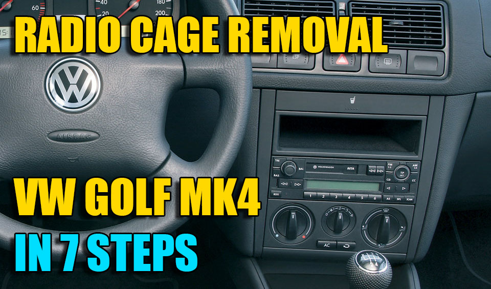 how to remove replace radio console dash on vw golf mk4. Black Bedroom Furniture Sets. Home Design Ideas