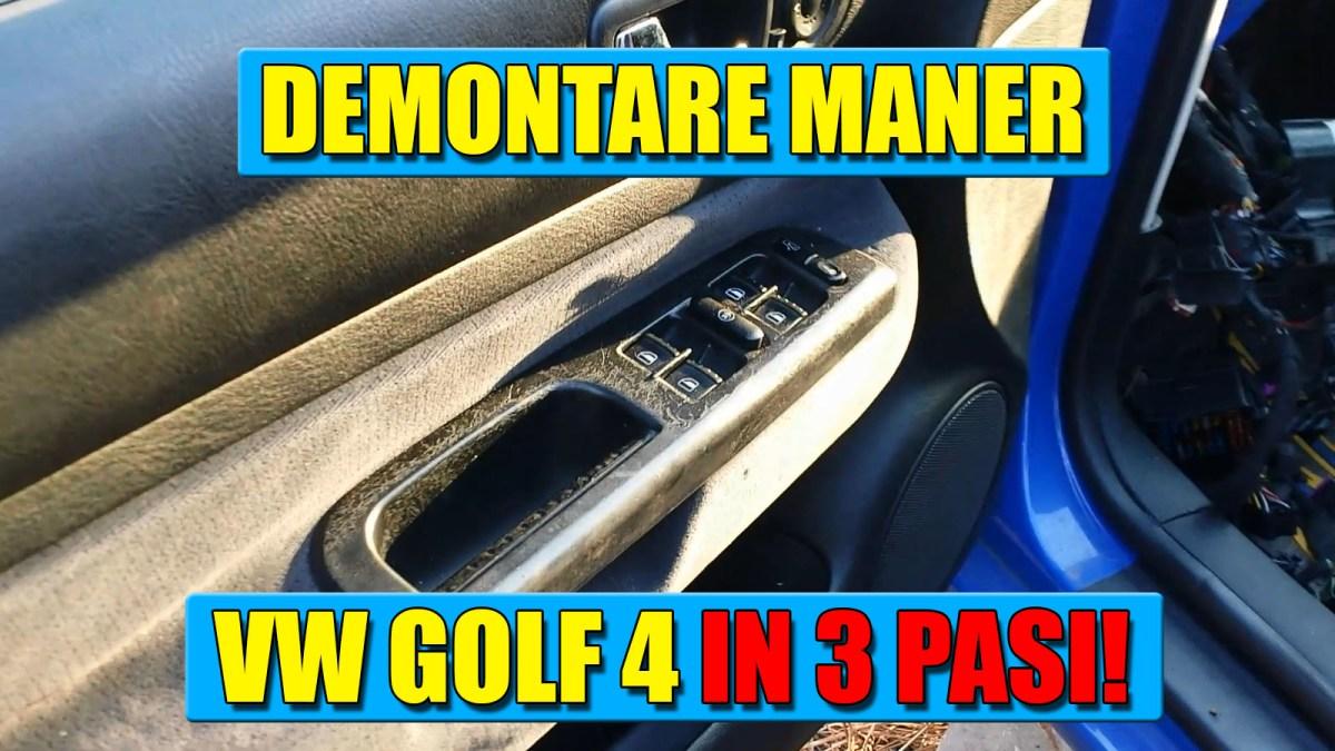 Demontare maner interior usa sofer (geamuri electrice) la VW Golf 4, Passat, Bora in 3 pasi simpli