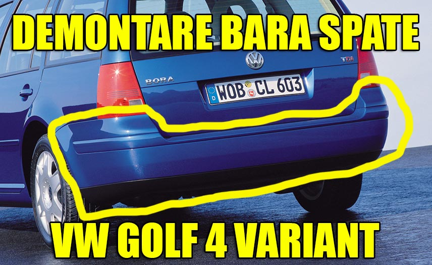 Demontare bara spate VW Golf 4 sau Bora Variant / Break / Combi in 5 pasi simpli