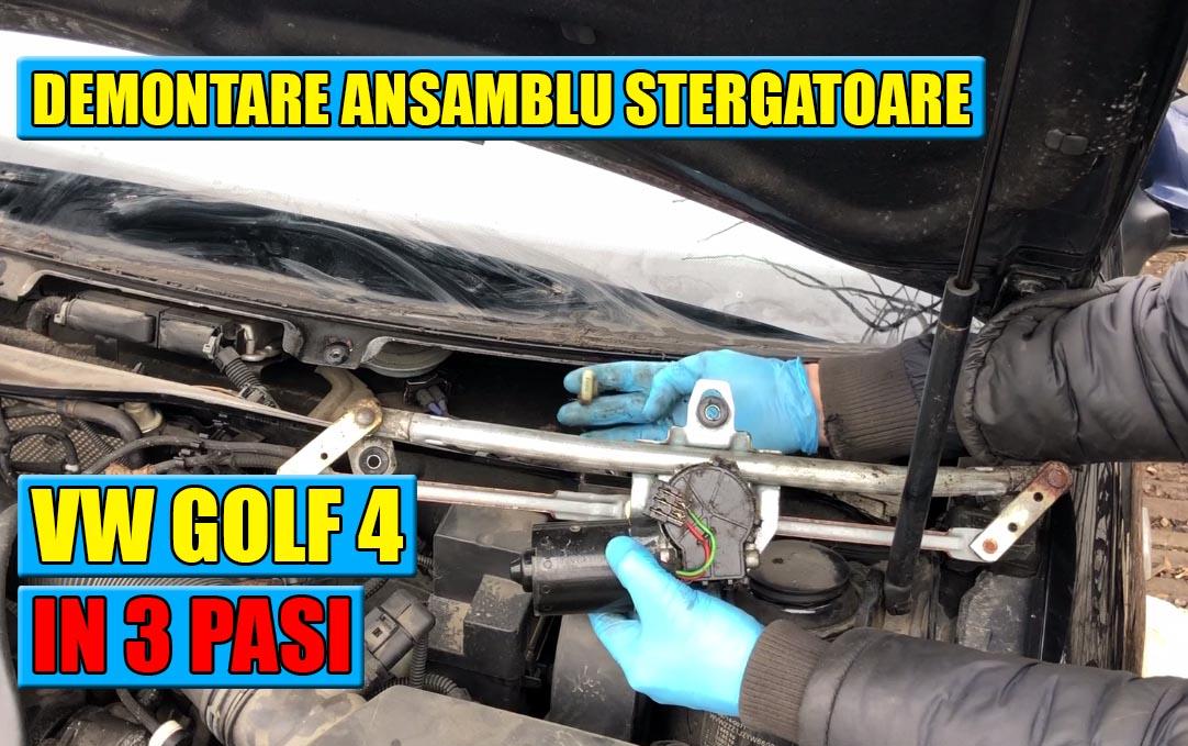TUTORIAL: Demontare ansamblu stergatoare la VW Golf 4, Bora, Skoda Octavia 1, Fabia