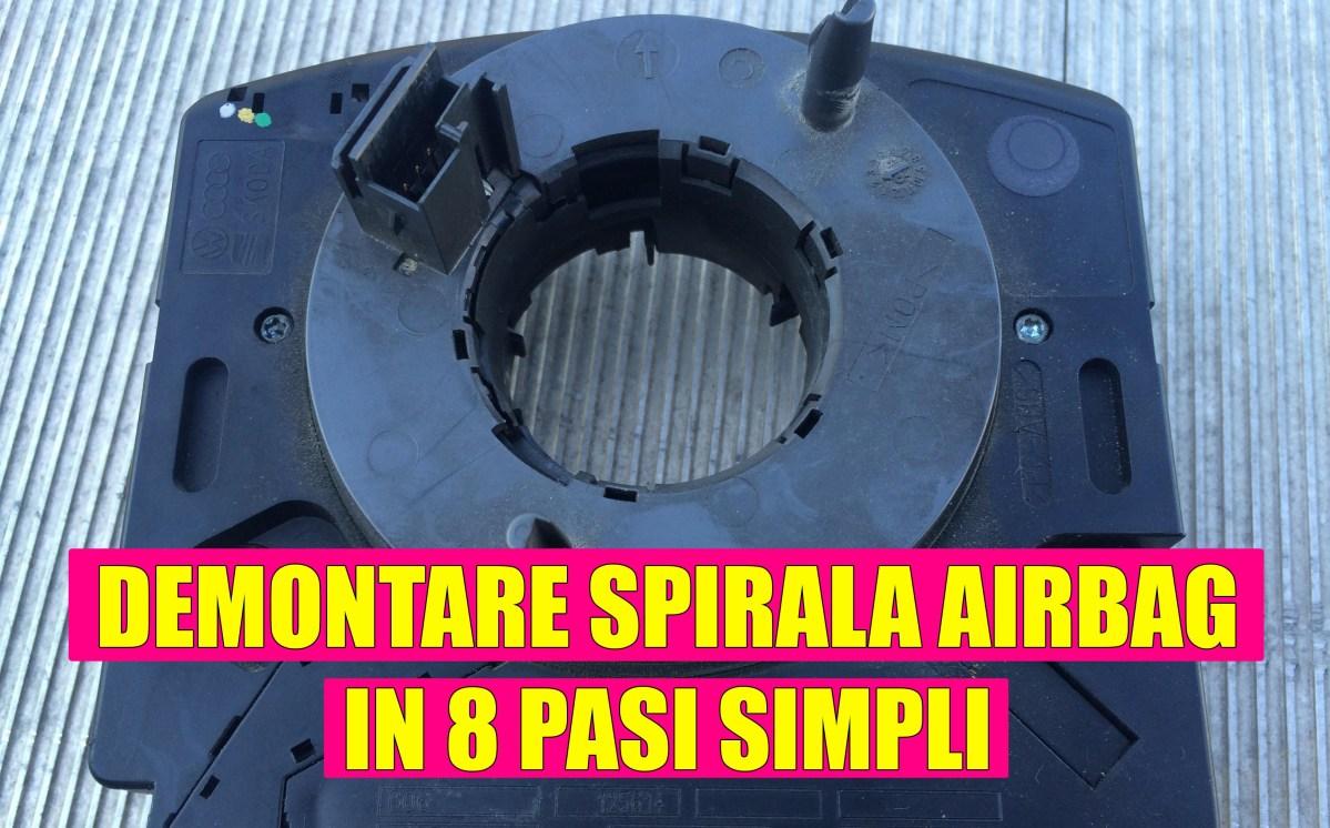 Demontare panglica / banda / spirala airbag VW Golf 4, Bora, Passat, Polo, Skoda Octavia 1, Seat Leon 1M, Seat Ibiza, Cordoba, etc. in 8 pasi simpli