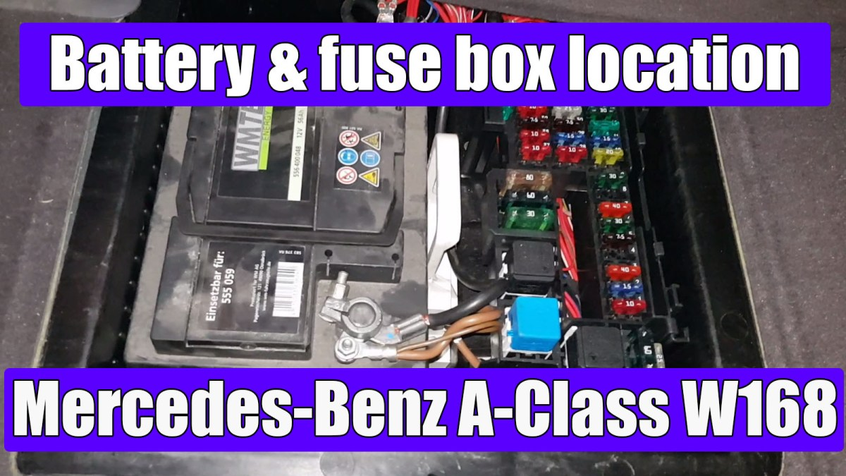 Mercedes-Benz A-Class W168 battery and main fuse box location
