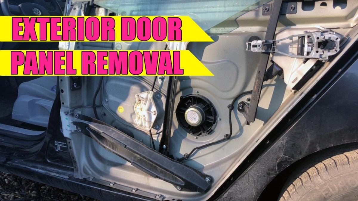 TUTORIAL: How to remove / install exterior outer door panel on VW Golf Mk5, Jetta in 12 simple steps