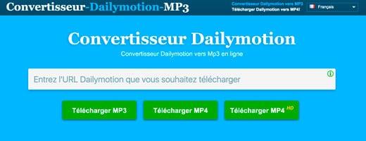 dailymotion convertisseur vid o en mp3 ou mp4 gratuitement en ligne. Black Bedroom Furniture Sets. Home Design Ideas