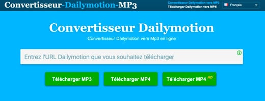 convertisseur Dailymotion vidéo en MP3