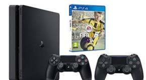 Pack PS4 Slim 500Go + FiFa 2017 + 2 manettes pas cher