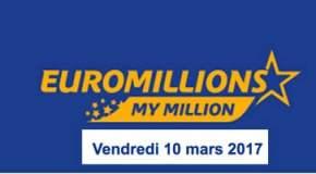 🔥 Résultat Euromillions et My Millions (FDJ) du Vendredi 10 Mars 2017