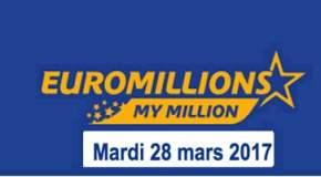 🔥Résultat Euromillions et My Million (FDJ) du Mardi 28 mars 2017