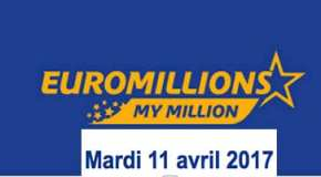 Résultat Euromillions et My Million (FDJ) tirage du Mardi 11 avril 2017