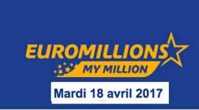 Résultat Euromillions et My Million (FDJ) tirage du Mardi 18 avril 2017