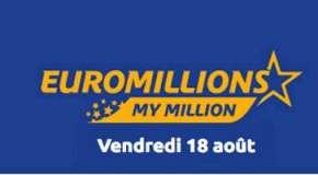 Résultat Euromillions et My Million (FDJ) tirage du vendredi 18 Août 2017