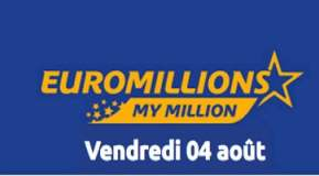 Résultat Euromillions et My Million (FDJ) tirage du Vendredi 4 Août 2017