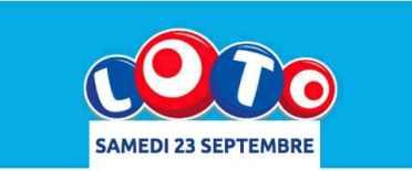 résultat loto 23 septembre 2017