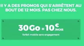 RED by SFR promo : 30 Go en 4G pour 10€ par mois à vie