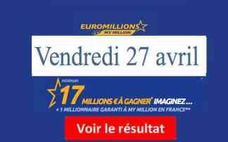 résultat euromillions vendredi 27 avril 2018