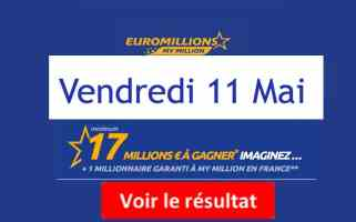 résultat fdj euromillions du 11 mai 2018