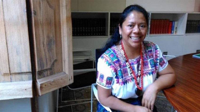 La activista Aura Lolita Chávez Ixcaquic, conocida como Lolita. Foto: Público.
