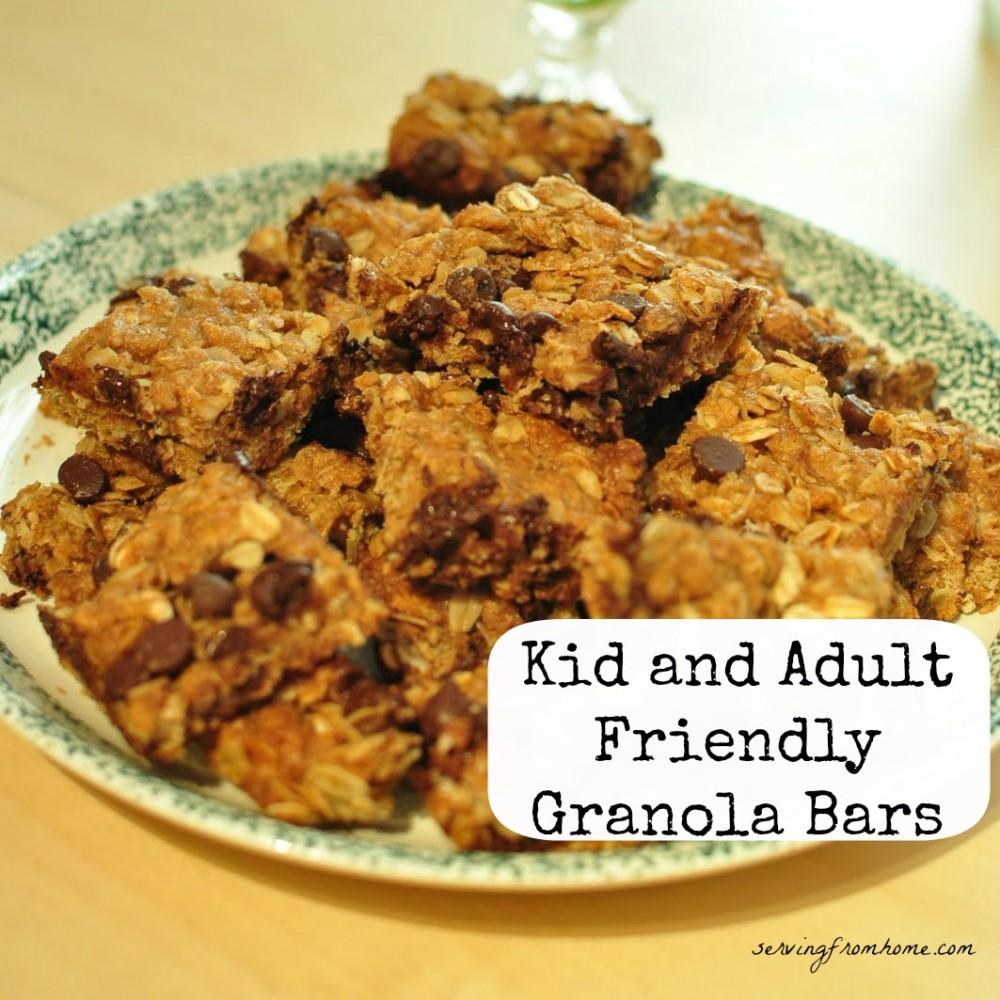 Kid and Adult Friendly Granola Bars
