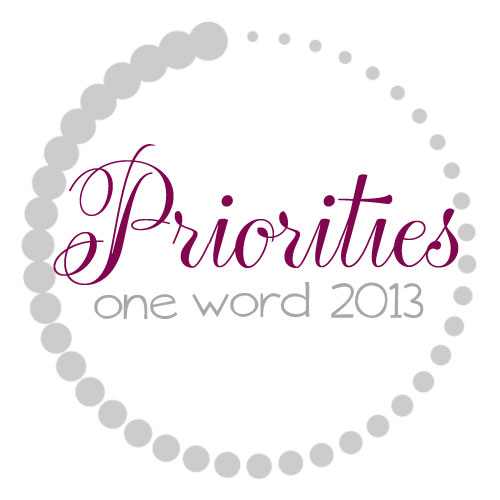 OneWord2013_Priorities