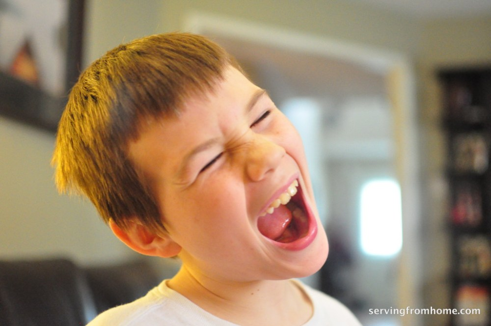 The Boy loves to laugh