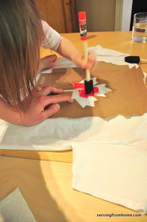 dabbing paint