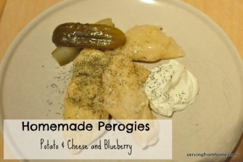 Homemade Perogies - Potato & Cheese and Blueberry