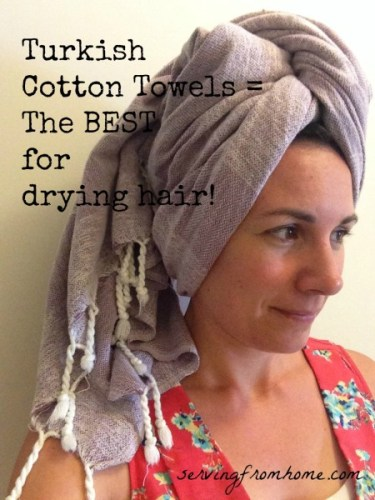 Turkish cotton towels for hair