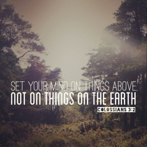 set your mind on things above colossians