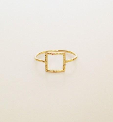 SDJ square outline ring
