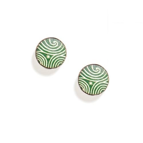 TRC Green twilight earrings