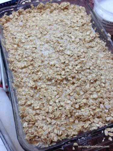 soaking baked oatmeal