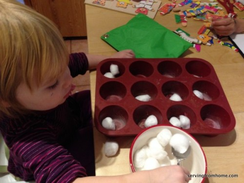 counting cotton balls