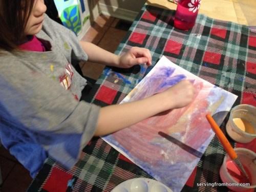 watercolors and salt