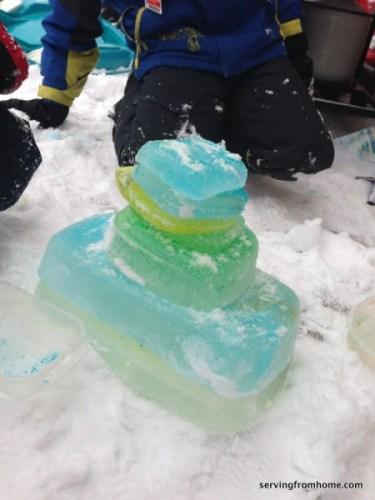 ice block tower