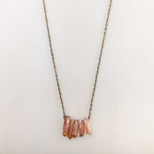 starfish project greta tea rose necklace