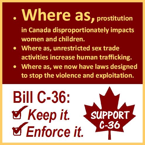 Canada anti trafficking Bill C-36