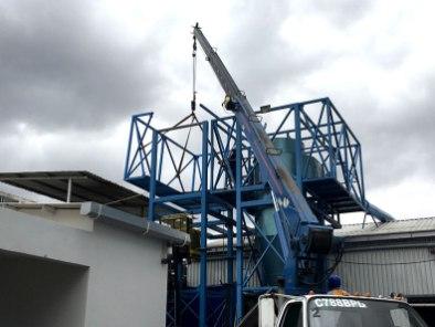 Montaje de estructuras metálicas para fábricas de alimentos