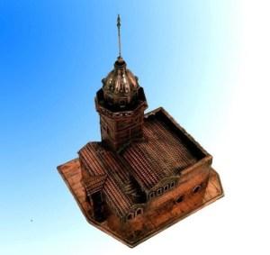 Kız kulesi-mavi-fon