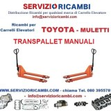 ricambi per transpallet manuale toyota