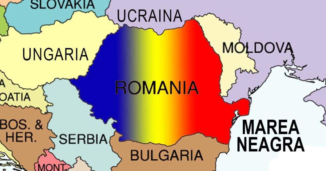 vecinii romaniei, harta romaniei si vecinii