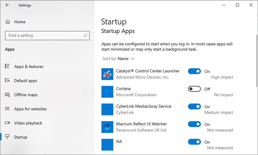 Startup - Aplicatii care pornesc odata cu Windows
