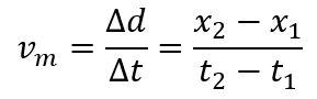 formula vitezei ca diferenta de coordonate x1 si x2