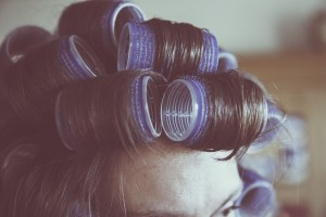 hair with rollers