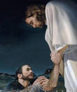 Yesus dan Petrus by