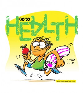 kartun go to health