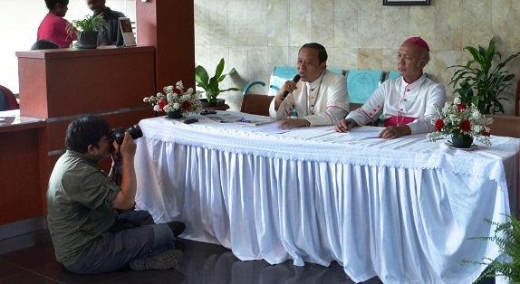 suasana konferensi pers KWI