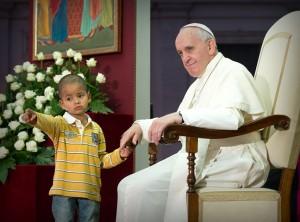 paus fransiskus dan anak by catholic news