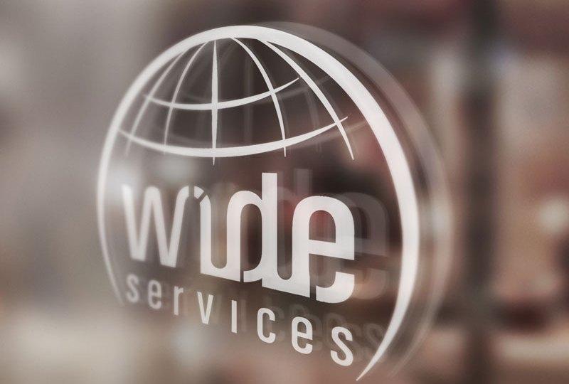diseño de logo wideservices