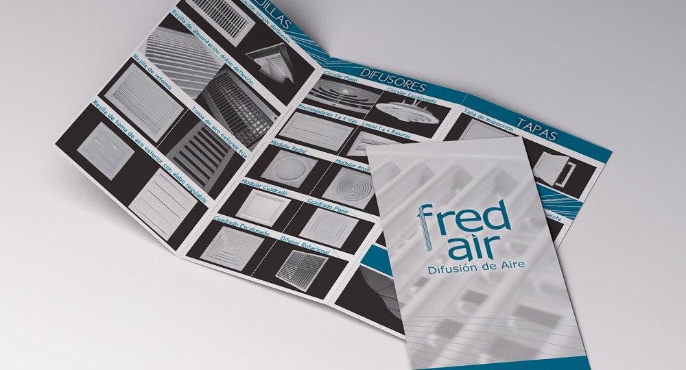 diseño de tríptico para Fredair