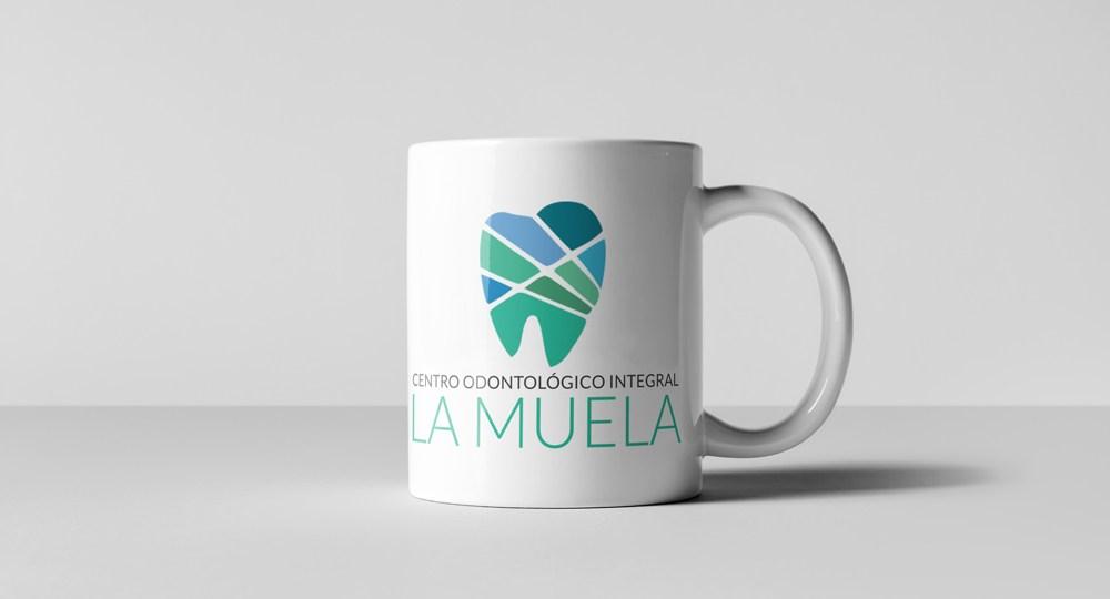 Diseño del logo de Centro odontológico La Muela